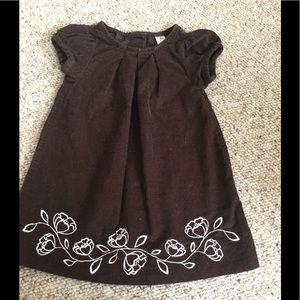 Girls 12 mo. Brown corduroy dress